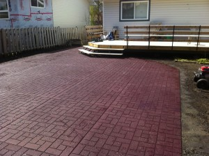 Red Wood Install Just Pressure Washed
